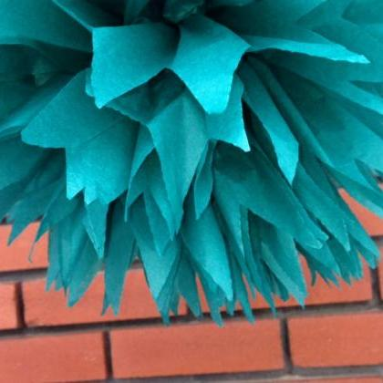 18 inch Tiffany Blue / party poms /..